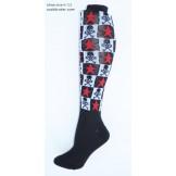 size 6-10 Black / white checkered s..