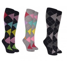 Small Compression Argyle Support Socks 8-15 MM HG
