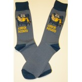 Couch Potato Cotton Crew Socks Size..