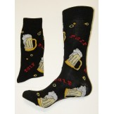 Beer Mug Cotton Crew Socks size 6-1..