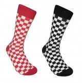 Cotton Checkered Socks