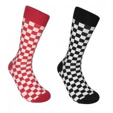 Cotton Checkered Socks