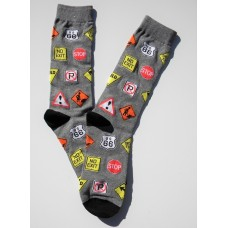 20% Off Novelty Constructions Street Sign Socks