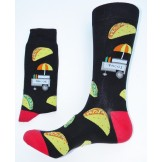 Taco Cart Novelty Men's Cotton Sock..