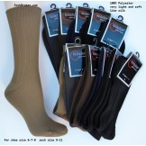 12 Pairs ALL BLACK  Microfiber Poly..