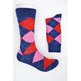 Blue with hot pink and red cotton a..