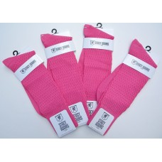 Raspberry pink textured rayon formal dress socks  size 8-12