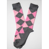 Premium Gray and Pink Cotton Argyle..