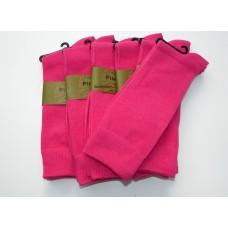 6 Pairs Groomsmen Fuchsia Cotton Dress Socks Size 8-12
