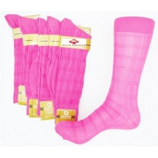 Fuchsia pink textured rayon formal dress socks by Origins size 8-12