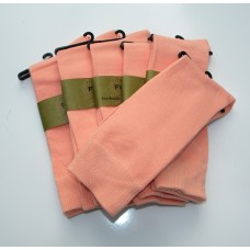 6 Peach Groomsmen Cotton Dress Socks size 8-12