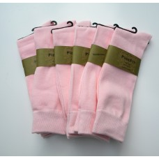 6 Pair Groomsmen Cotton baby pink dress socks-Men's 7-12
