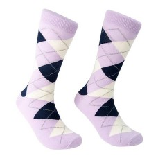 Lavender / Lilac Cotton Argyle Socks