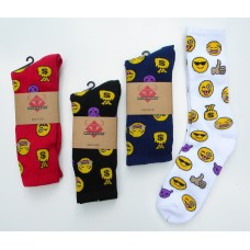 Men's Lightly Padded Emoji Socks