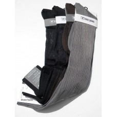 Stacy Adams Sheer ribbed nylon over the calf dress socks