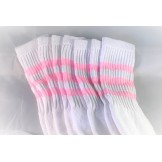 24 inch white old school tube socks..