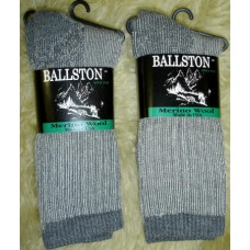 Ballston charcoal heavy cushioned merino wool hiking socks
