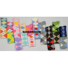 12 pack of assorted women's knee high argyle special