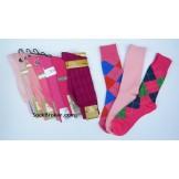 Pink socks- Men's