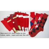 Red socks-Men's