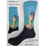 Birth of Venus cotton dress socks n..
