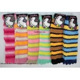 12 pairs of assorted soft cozy stri..