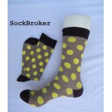 Brown with yellow polka dots cotto..