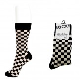 Mens black and beige checkered dres..