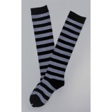 Black and Light Gray Striped Knee H..