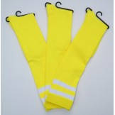 Double striped NeonYellow knee high..