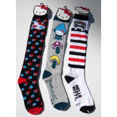 50% off  3 Pairs  Hello kitty knee high socks