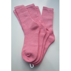 3 Pack Pink Cotton Crew Socks