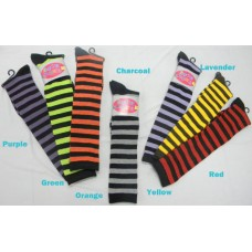 Sockbroker thin striped cotton knee high socks