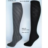 Sockbroker swirl solid cotton knee ..