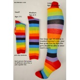 Children's rainbow knee high socks ..