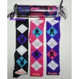 Playboy 3 pack argyle knee high soc..