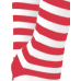 Opaque red and White striped knee high socks