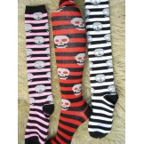 Leg Avenue striped skull knee high ..