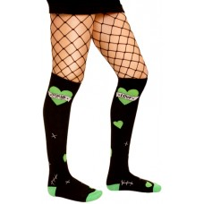 Sourpuss Zombie Love over the knee socks