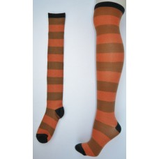 Sale!!  O'Neill Peach and  brown thick striped over the  knee thigh hi socks