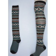 Sale!! O'Neill South west arts over the  knee thigh hi socks