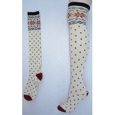 Sale!! O'Neill Ivory polka dot over the  knee thigh hi socks