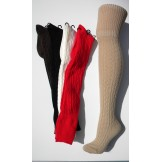 Cable Knit Boot Socks Over Knee / T..
