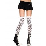 Opaque black and white checkered th..