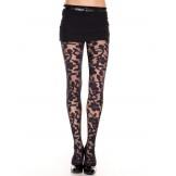 Spandex sheer floral designed panty..