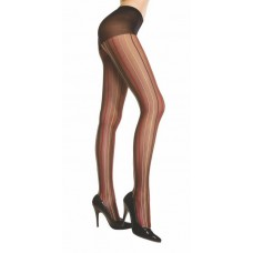 Sheer Pantyhose W / Vertical Multi-color Pin Stripes