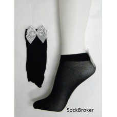 Opaque ankle socks with bow for women by music leg