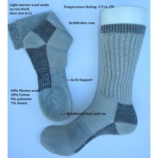 Sale!! 6 pk merino wool thermalsport hiking socks 8-12